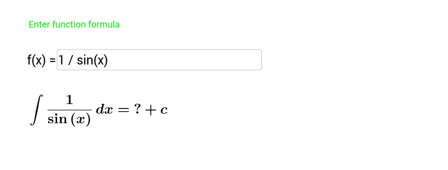 Integral calculation for beginners