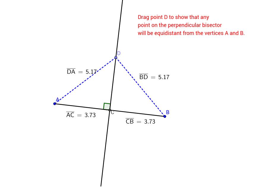 copy of perpendicular bisector endpoints theorem 2 geogebra. Black Bedroom Furniture Sets. Home Design Ideas