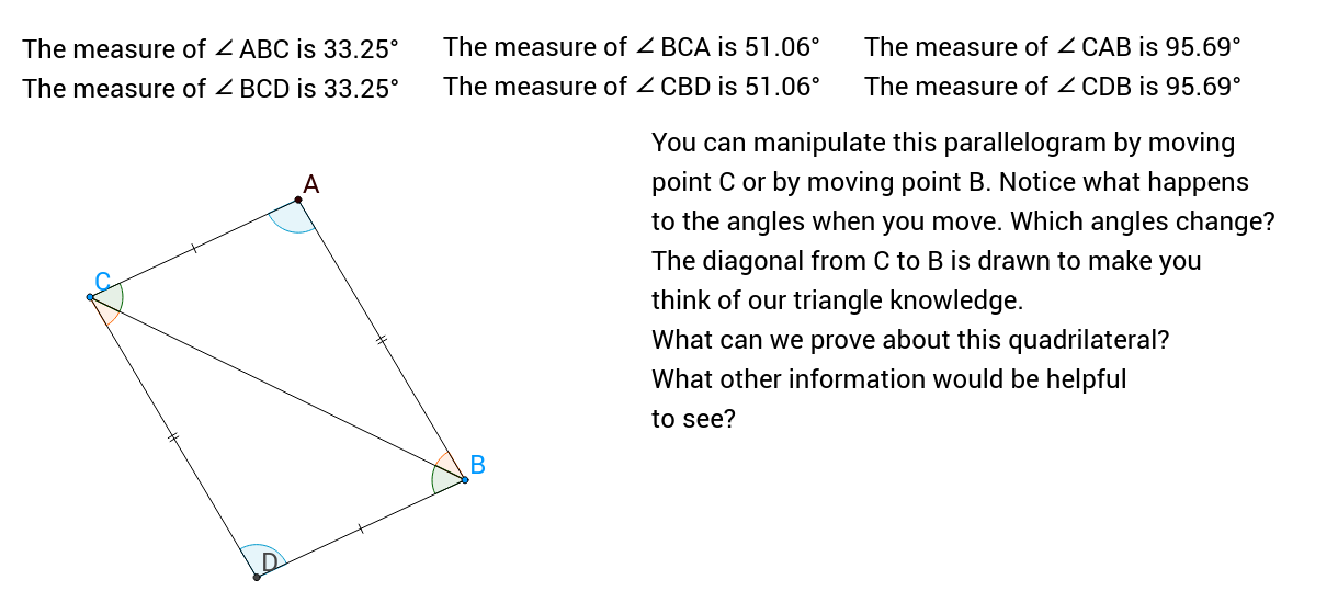 Parallelograms #2 - Examining Interior Angles