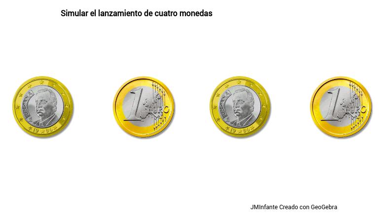 Lanzamiento de 4 monedas