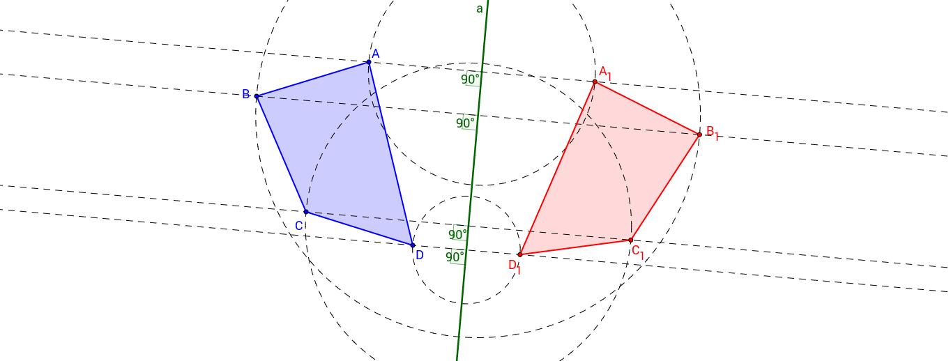 Figury symetryczne względem prostej