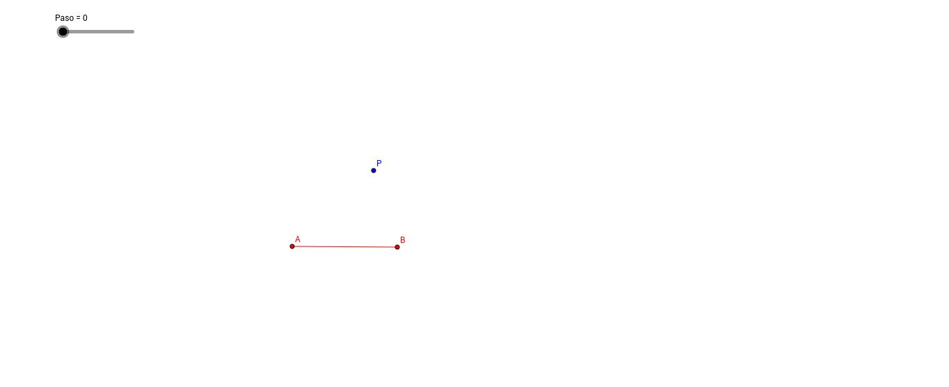 Trazo de un segmento congruente.