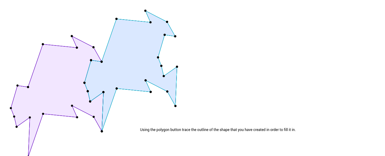 Step 6 in creating a tessellation