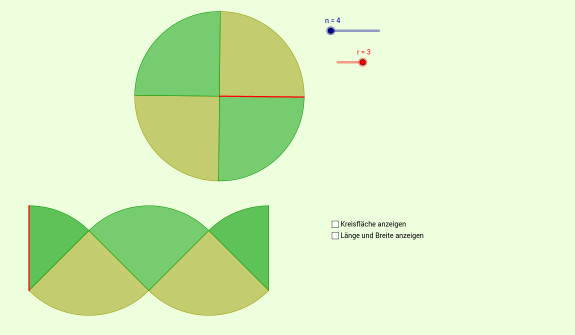 DB85 Herleitung Flächenformel Kreis