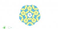 Mosaico basado en las teselas de Penrose
