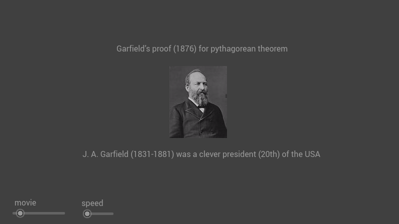 Garfield's proof for pythagorean theorem