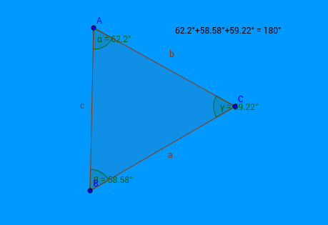 Sum angles triangle
