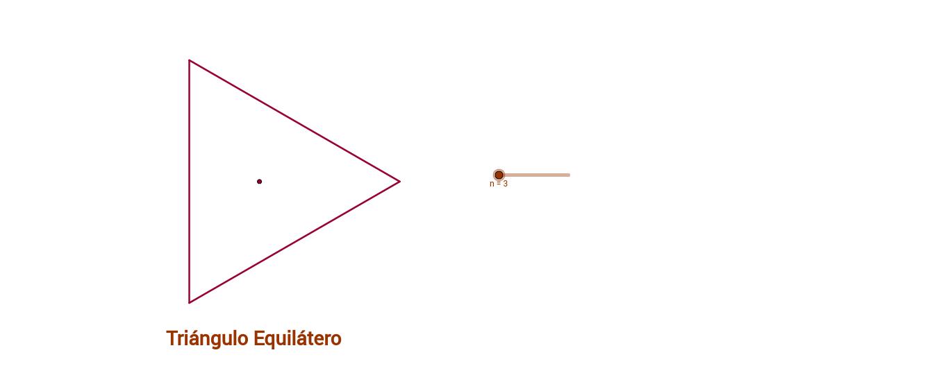 Desplaza el deslizador y observa la figura geométrica que se forma