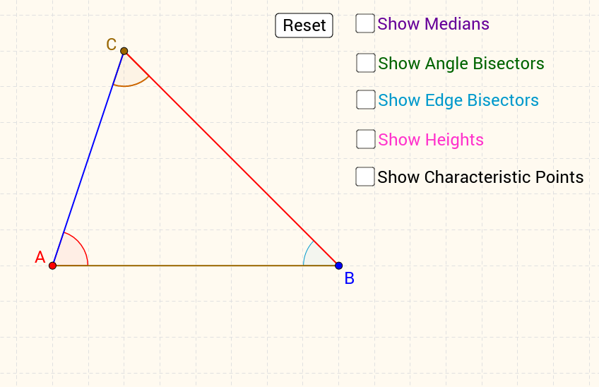 Characteristic points of a triangle
