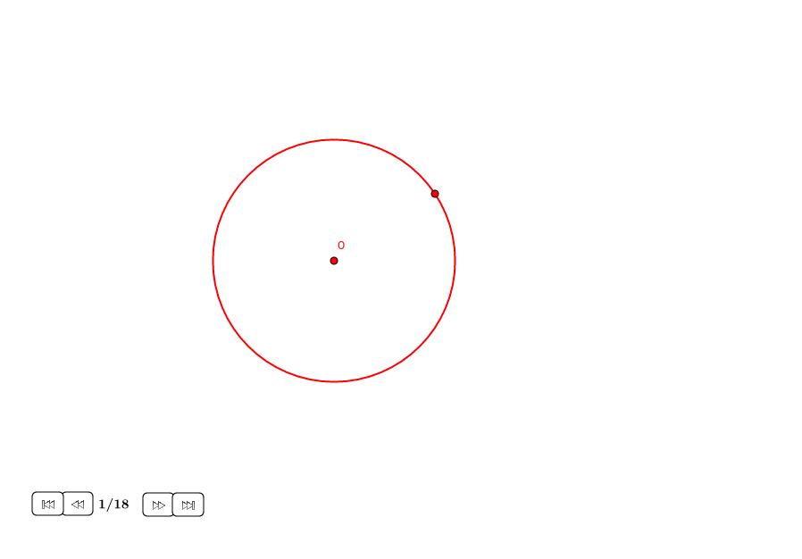 16-ágono regular en un círculo