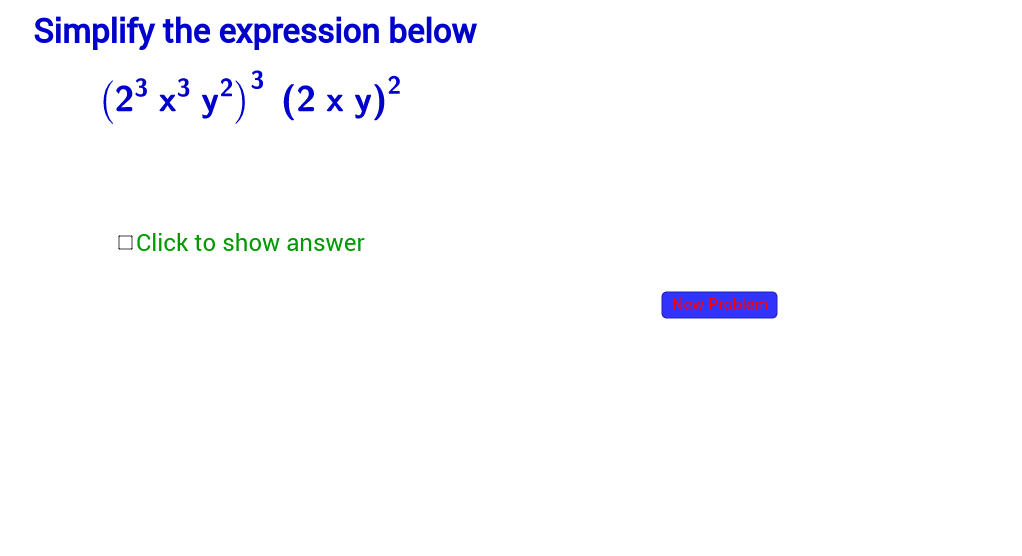 Simplify Expressions with Exponents-Section 4.2
