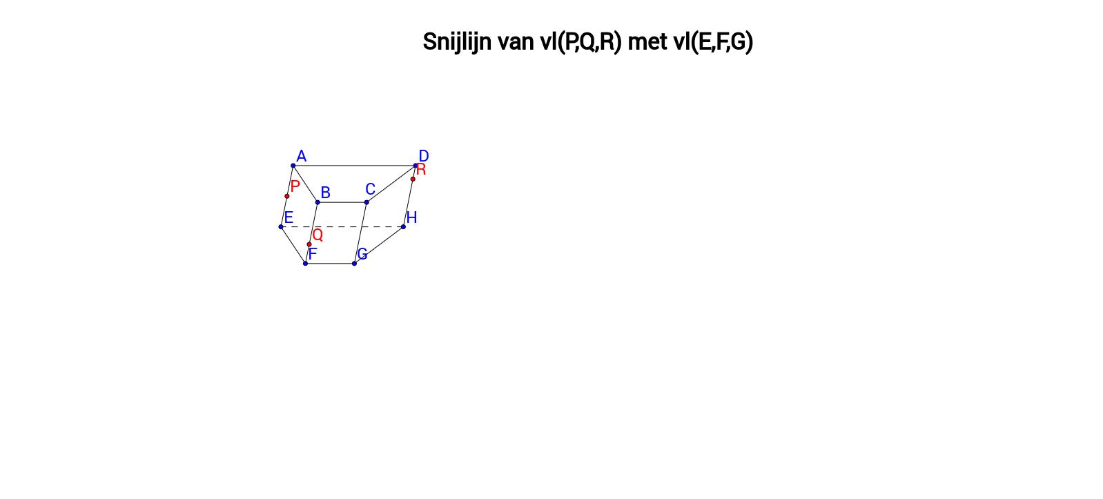 Snijlijn van twee vlakken - Prisma 4 - Klaswerk oefening 1