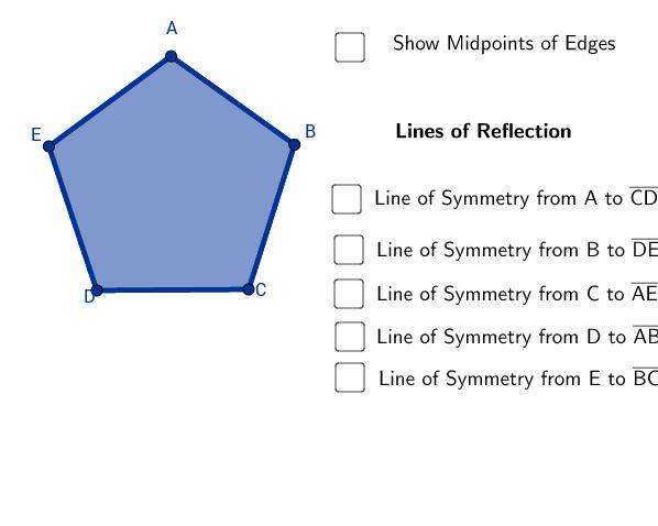 Identify lines of symmetry