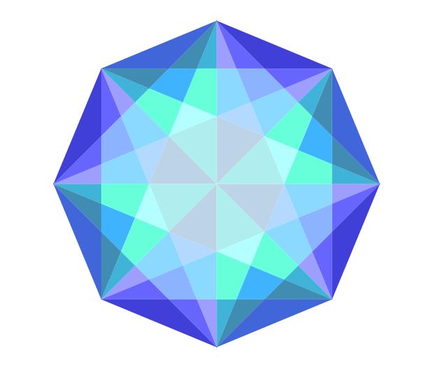 EPV1. Octógono. Diagonales.