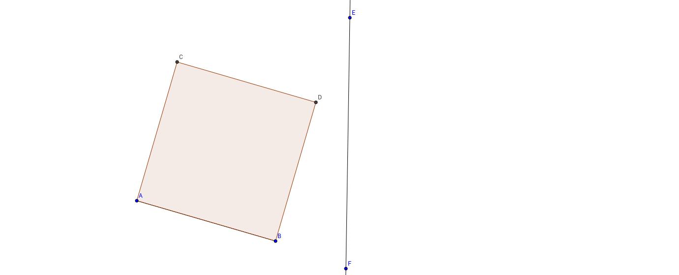 Speiling av kvadrat ved konstruksjon