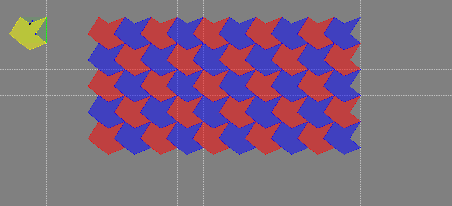 Tessellation from squares