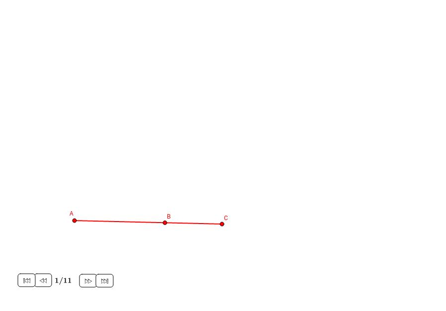Tercio proporcional a dos longitudes dadas