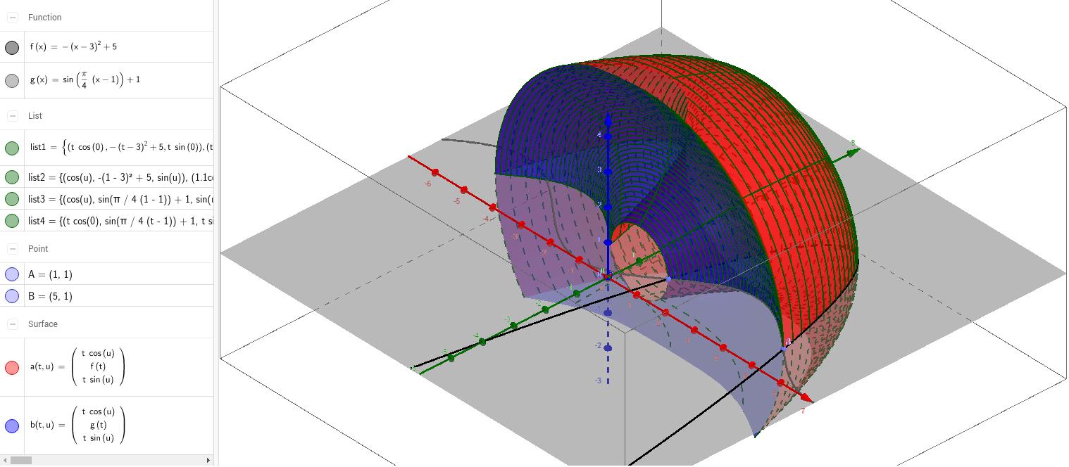 worksheet Area Between Curves Worksheet area between curves rotation around y axis geogebra