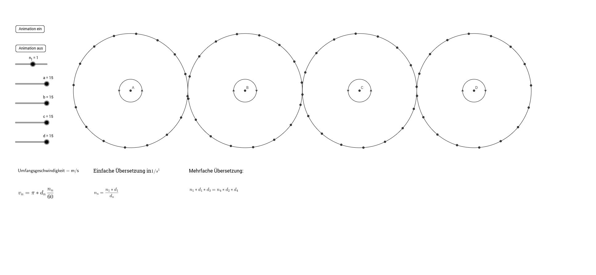 Getriebe: Drehzahl und Drehdrichtung