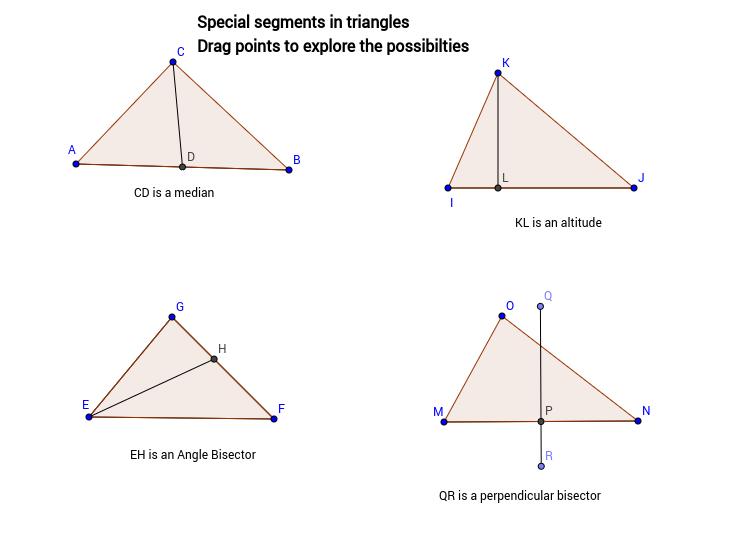 Special Segments In Triangles Geogebra