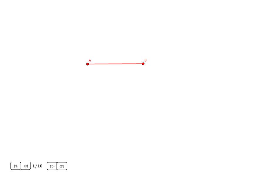 Triángulo equilátero sobre un lado dado (II)