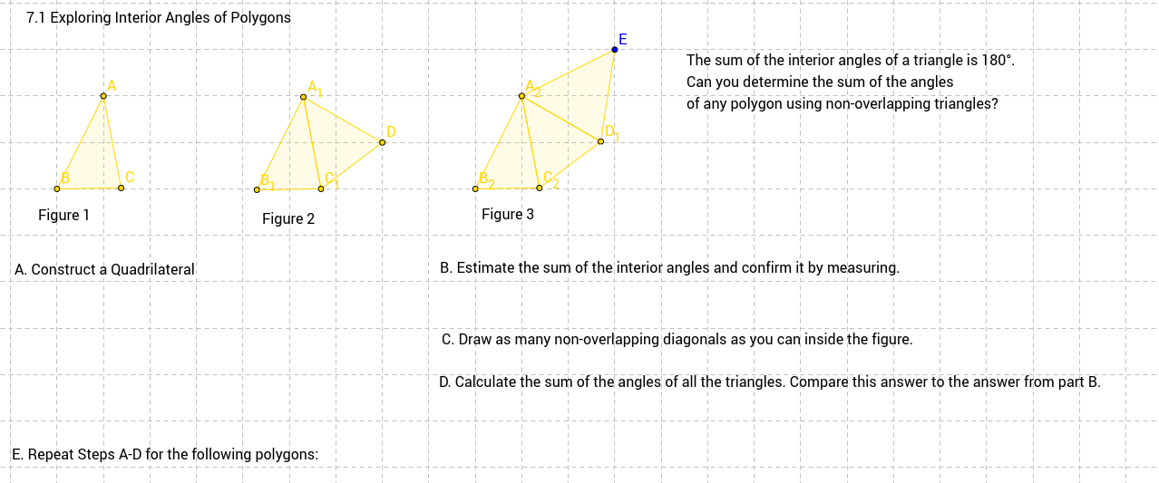 71 Exploring Interior Angles of Polygons Template GeoGebra – Interior Angles of Polygons Worksheet
