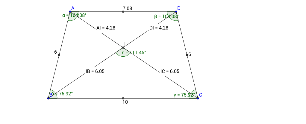 Diagonals of a trapezoid