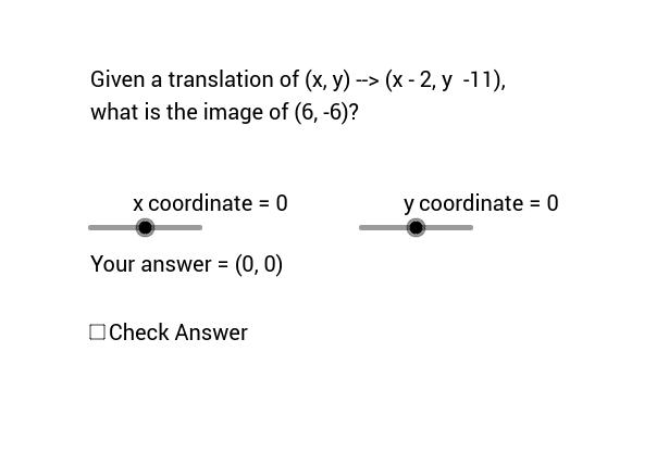 Coordinate Notation Translation Quiz