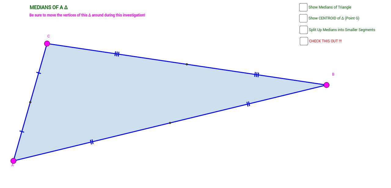 medians centroid theorem proof without words geogebra. Black Bedroom Furniture Sets. Home Design Ideas