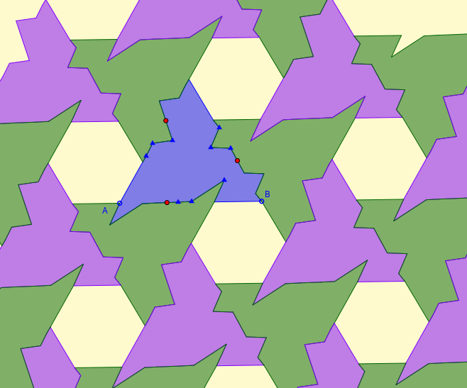 Triangle Tessellation with Hexagonal Gap