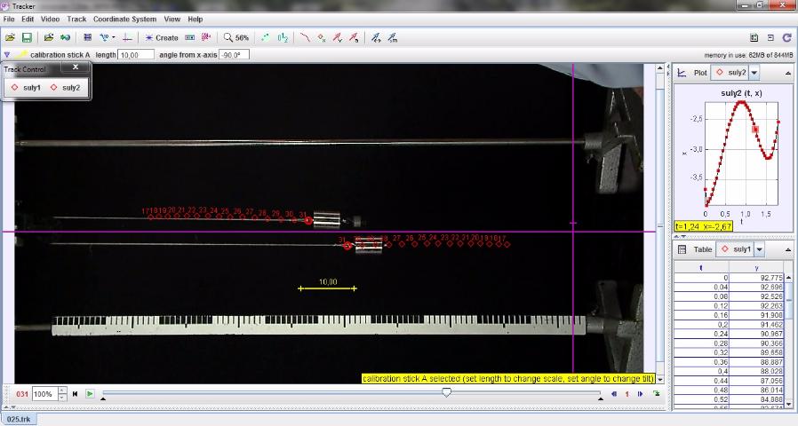 Atwood-féle ejtőgéppel megvalósított gyorsuló mozgás lassan – Videoelemzés