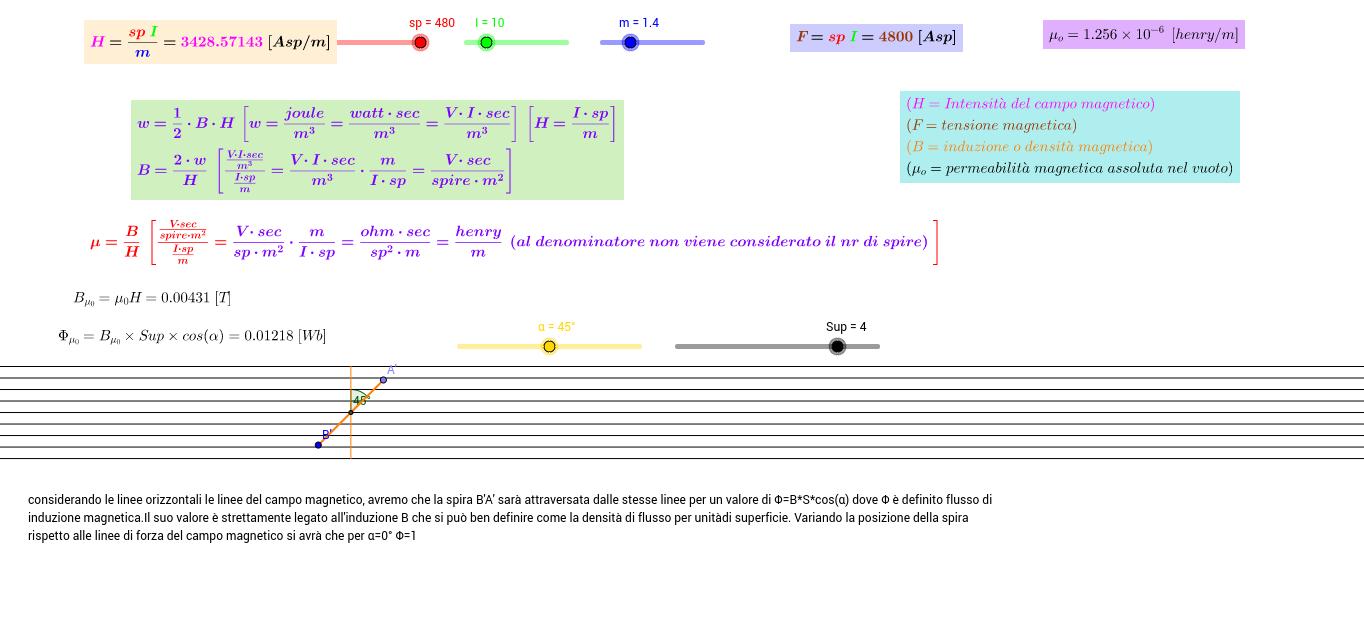 ALCUNI PARAMETRI  MAGNETISMO- B, H, F, μ,Φ (unità di misura)