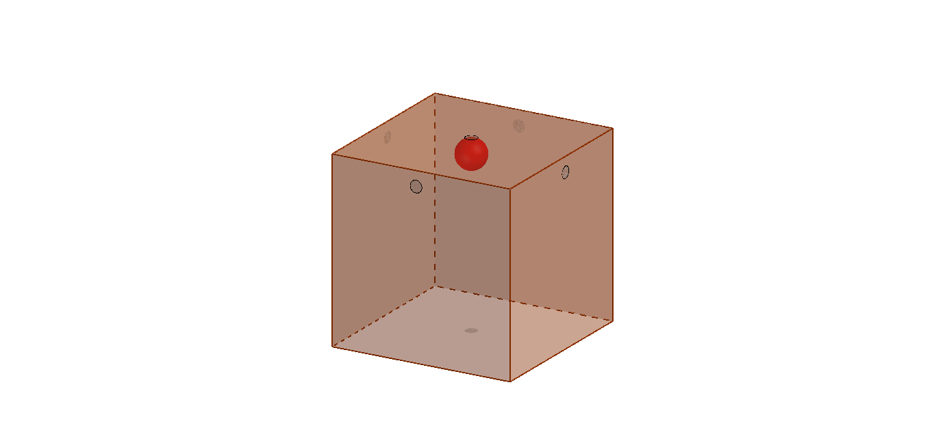 Ball bouncing in a cube