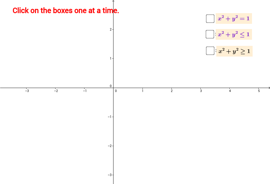 Circle and inequality