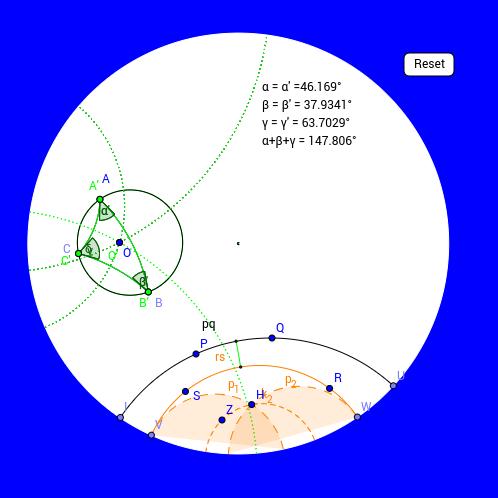 Mouvement d'un triangle dans le cercle de Poincare