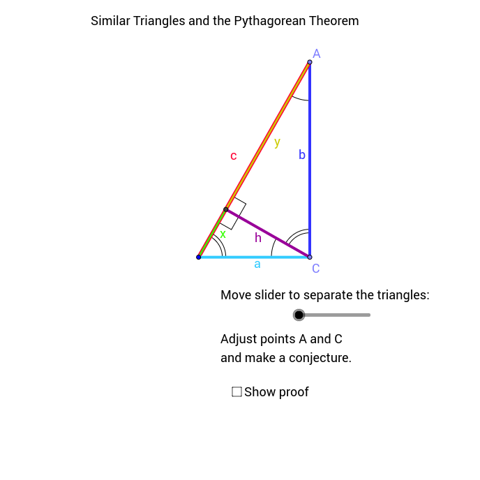Pythagorean and similar triangles.