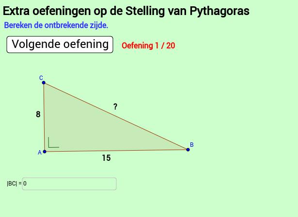 Extra oef 3 Pythagoras