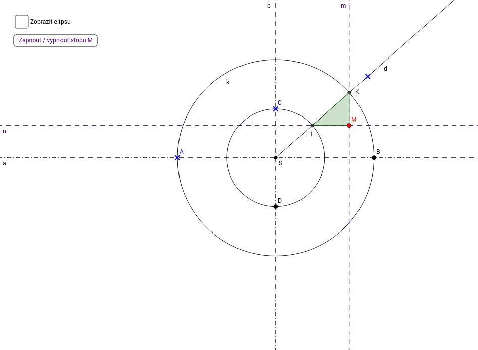 Trojúhelníková konstrukce elipsy