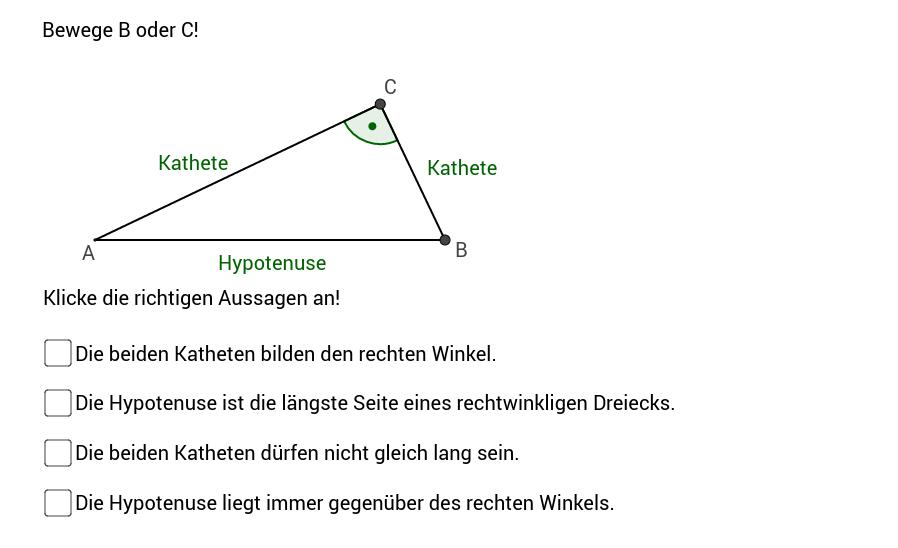 Das rechtwinklige Dreieck - Grundbegriffe