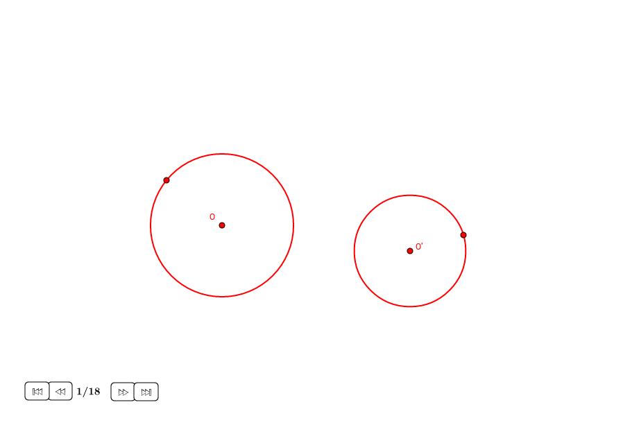 Tangentes externas a dos círculos distintos