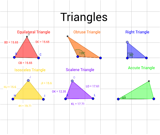 types of triangles - 671×566