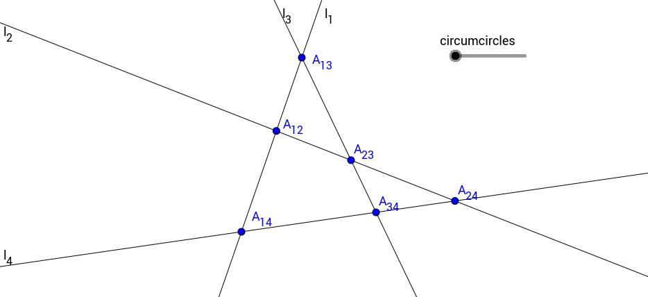 Four Circumcircles in a Quadrilateral
