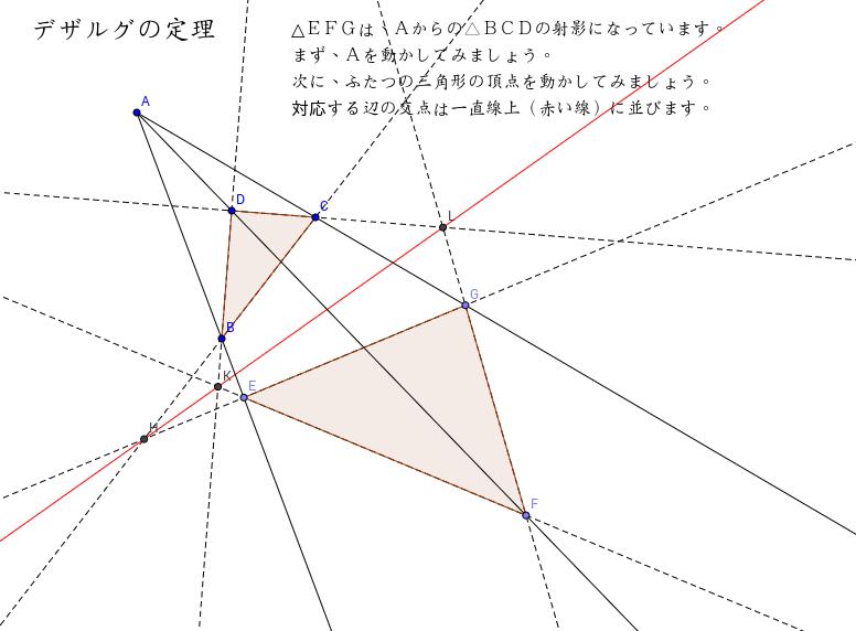 デザルグの定理 théorème de Desargues