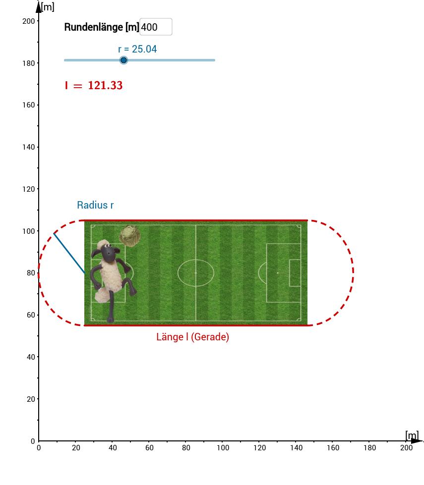 Extremwertaufgabe Fußballfeld