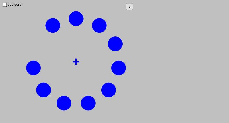 Illusion cercles et couleurs