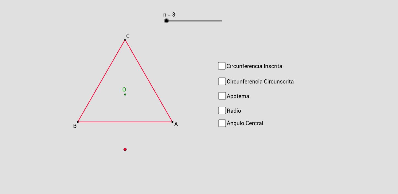 Elementos de los polígonos regulares