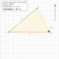 calcolo b e c di t1 noti area, a α