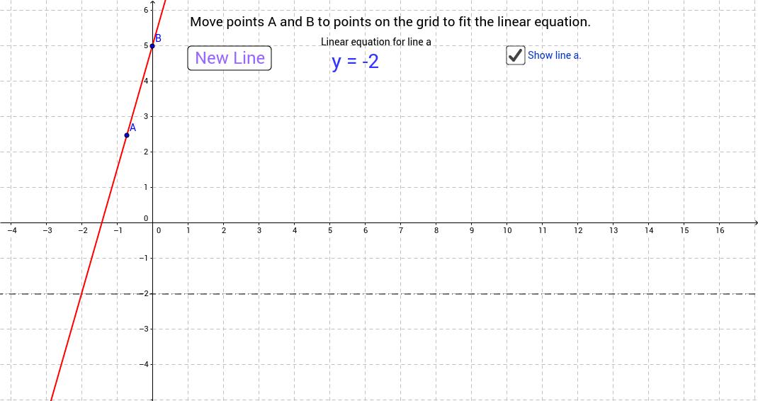Match a line to a random linear equation