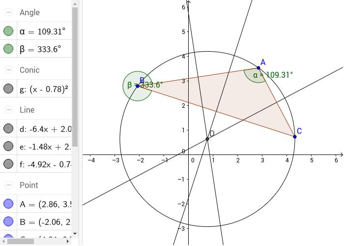 cercul circumscris unui triunghi