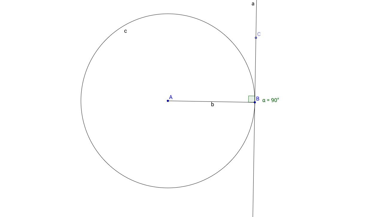 Tangent Radius Relationship in a Circle
